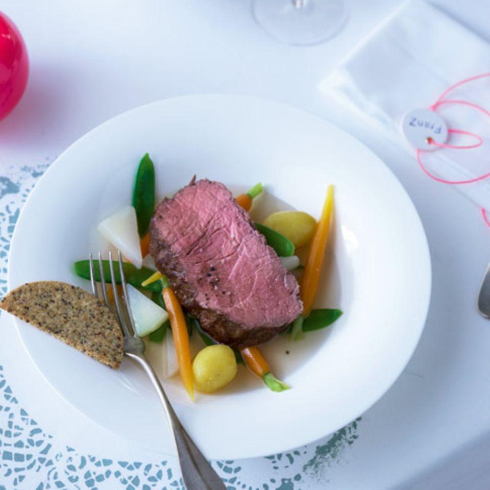Roastbeef mit Kräuter-Keksen