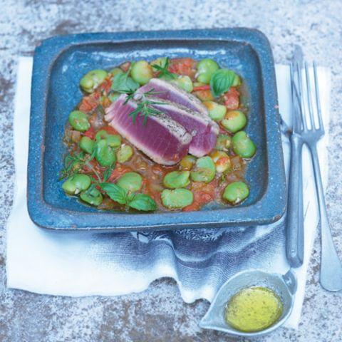 Dicke Bohnen mit Thunfisch