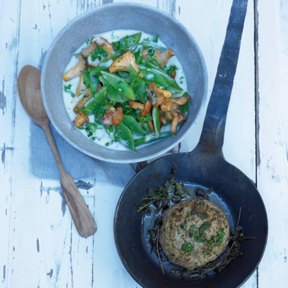 Bohnensalat mit Lammcarré Rezept