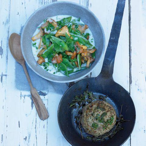 Bohnensalat mit Lammcarré