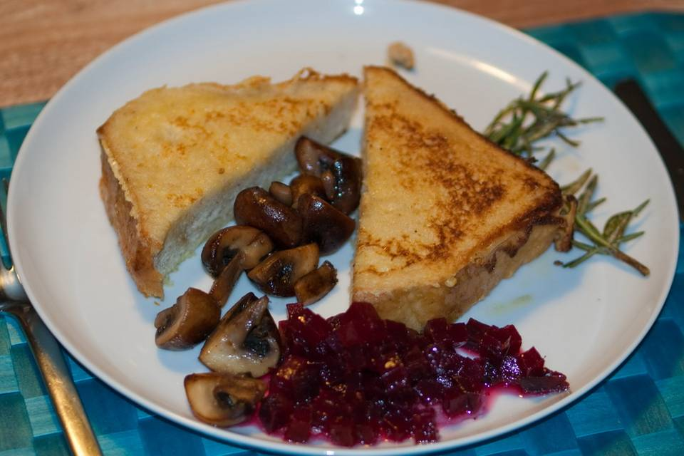 French Toast mit Kräuterseitlingen Rezept