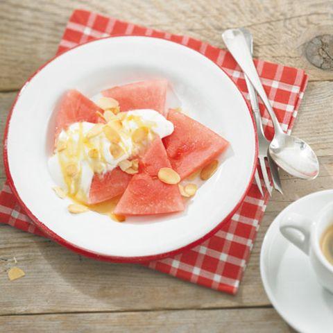 Melone mit Ricotta-Sahne