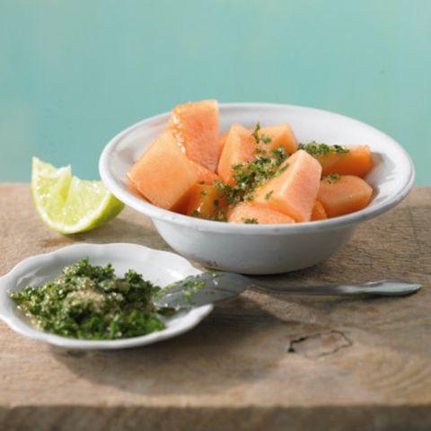 Melone mit Korianderzucker