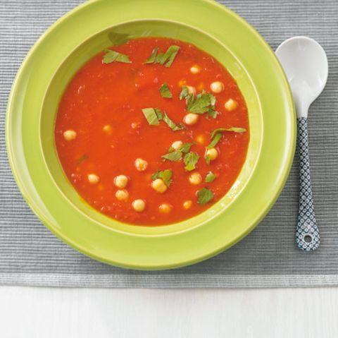 Tomatensuppe mit Kichererbsen