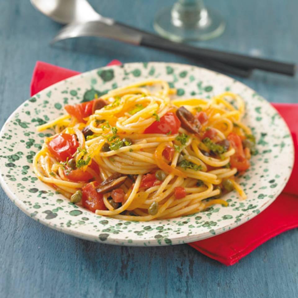 Spaghetti alla puttanesca Rezept
