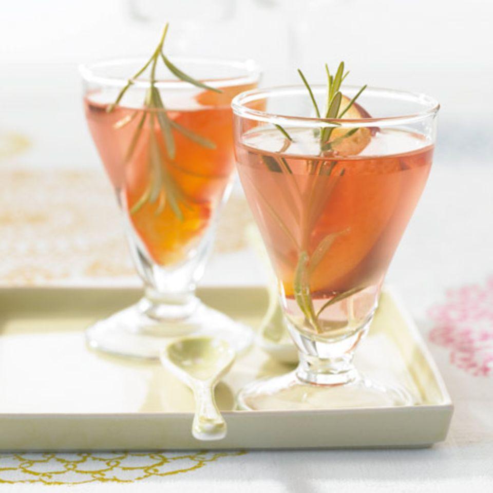 Rosé mit Pfirsich