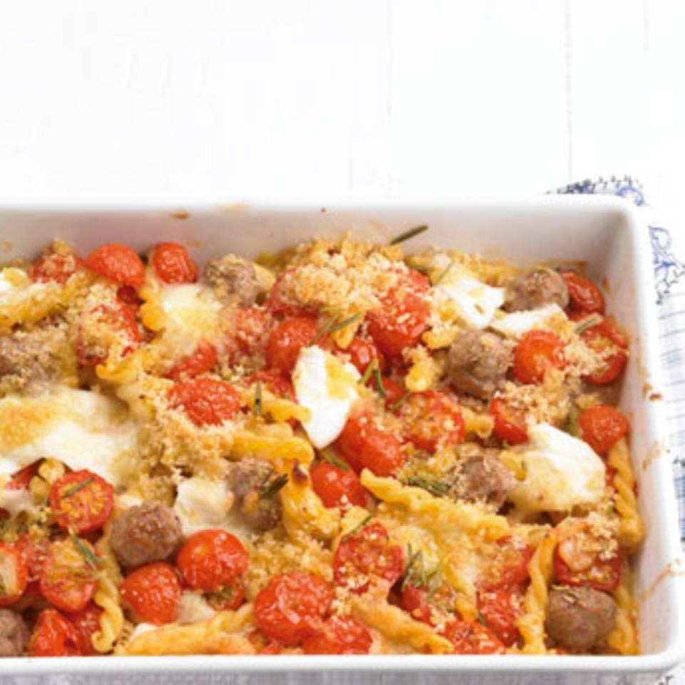 Brösel-Tomaten-Pasta Rezept