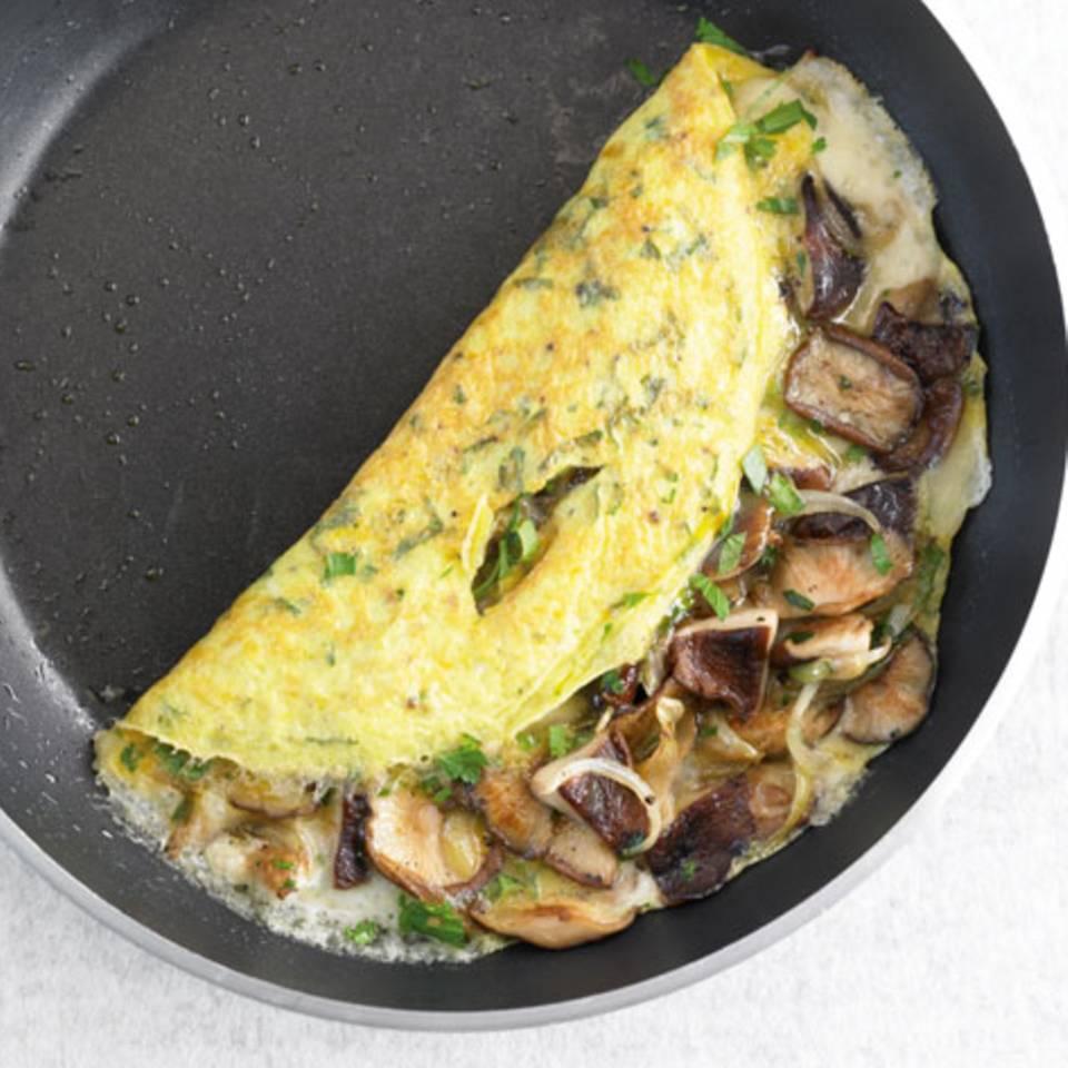 Käse-Pilz-Omelette Rezept