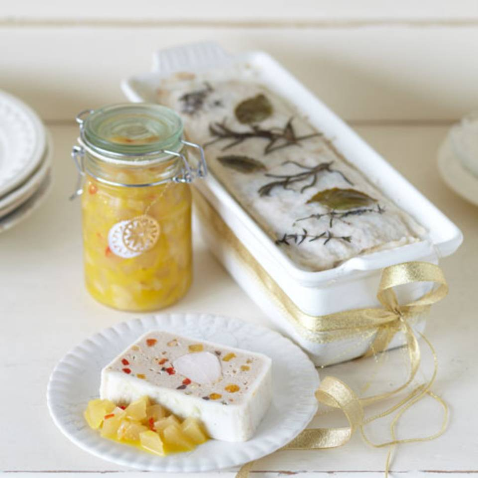 Kaninchenterrine mit Birnen-Ingwer-Chutney Rezept