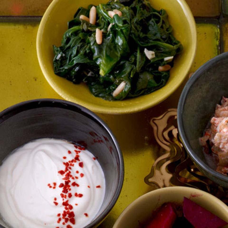 Spinat mit Rosinen Rezept