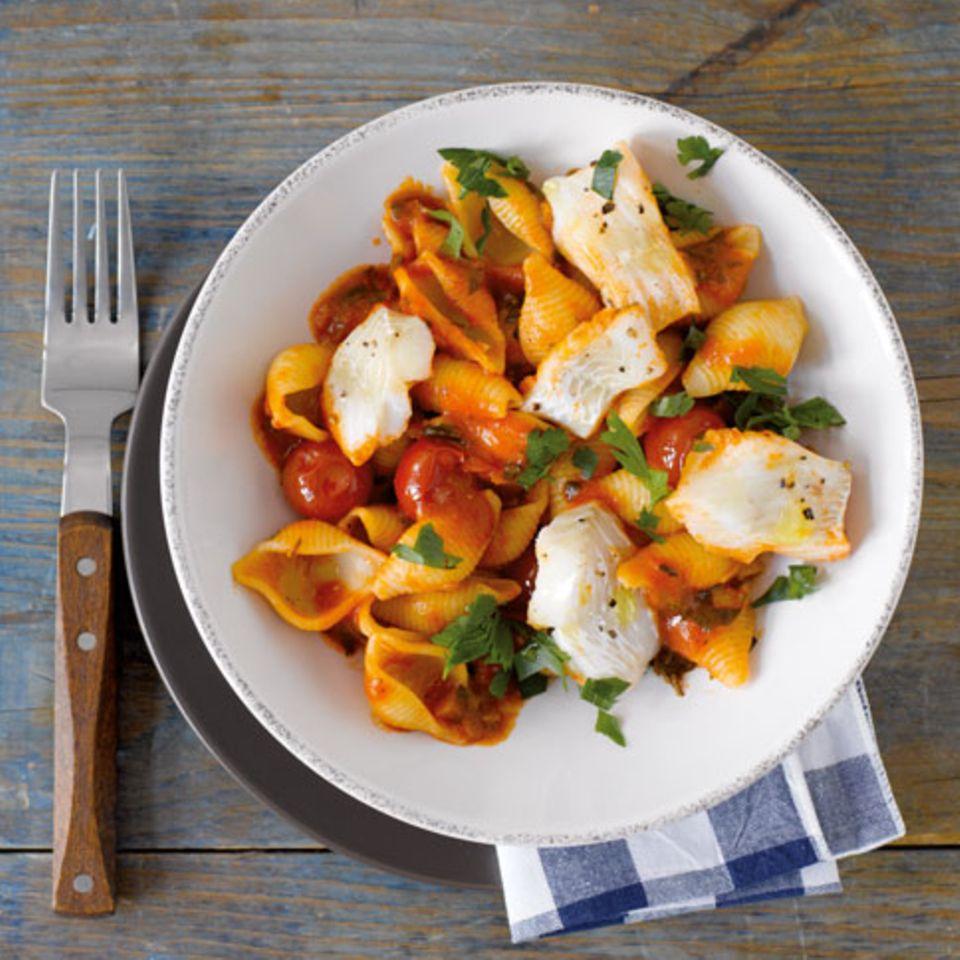 Tomaten-Fisch-Pasta