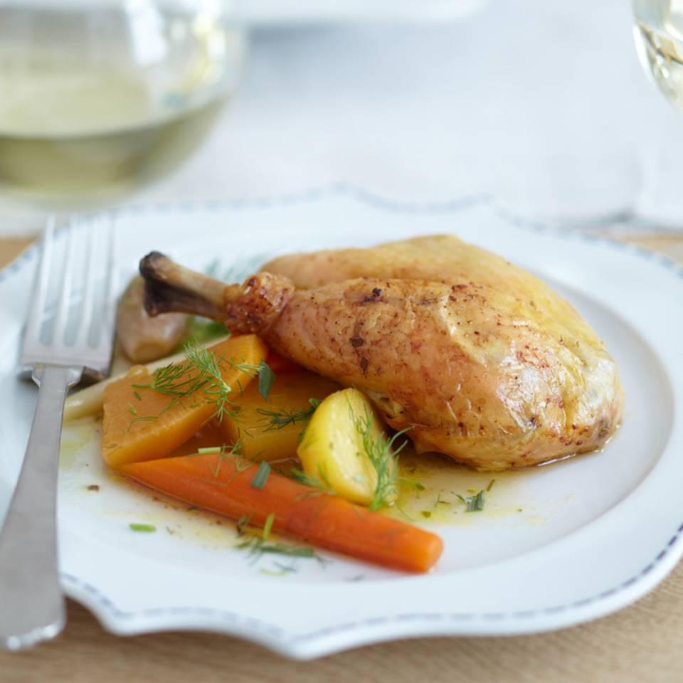 Maispoularde mit Gemüse-Pot-au-feu Rezept