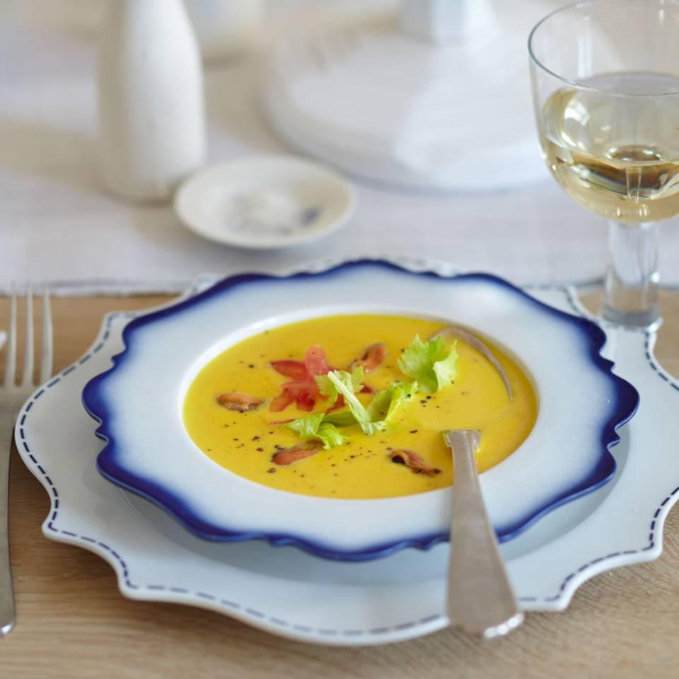 Safran-Muschelsuppe Rezept