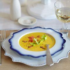 Safran-Muschelsuppe