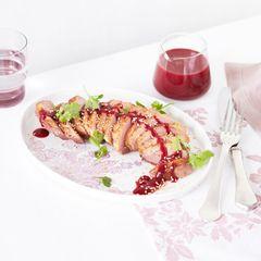 Entenbrust mit Gewürz-Frucht-Sauce