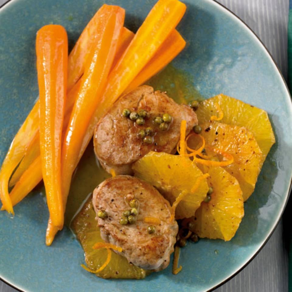 Schweinemedaillons à l`orange Rezept