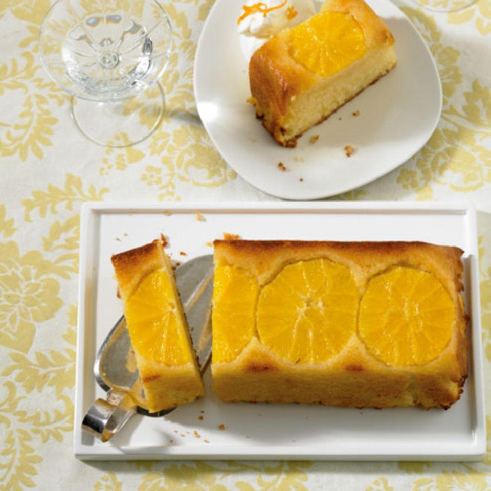 Getränkter Orangenkuchen