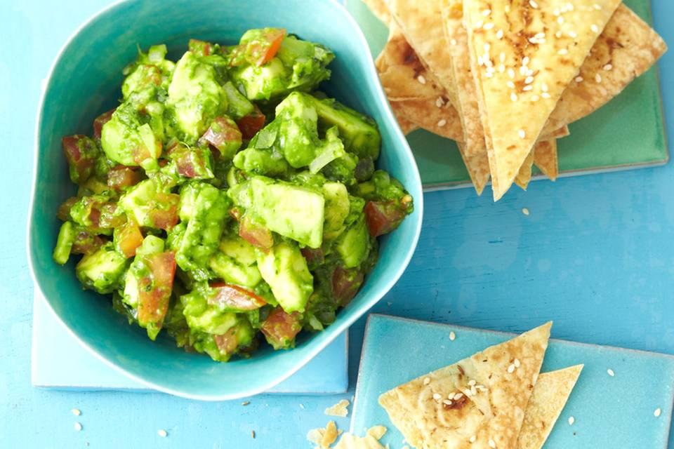 Guacamole mit Tortillachips Rezept