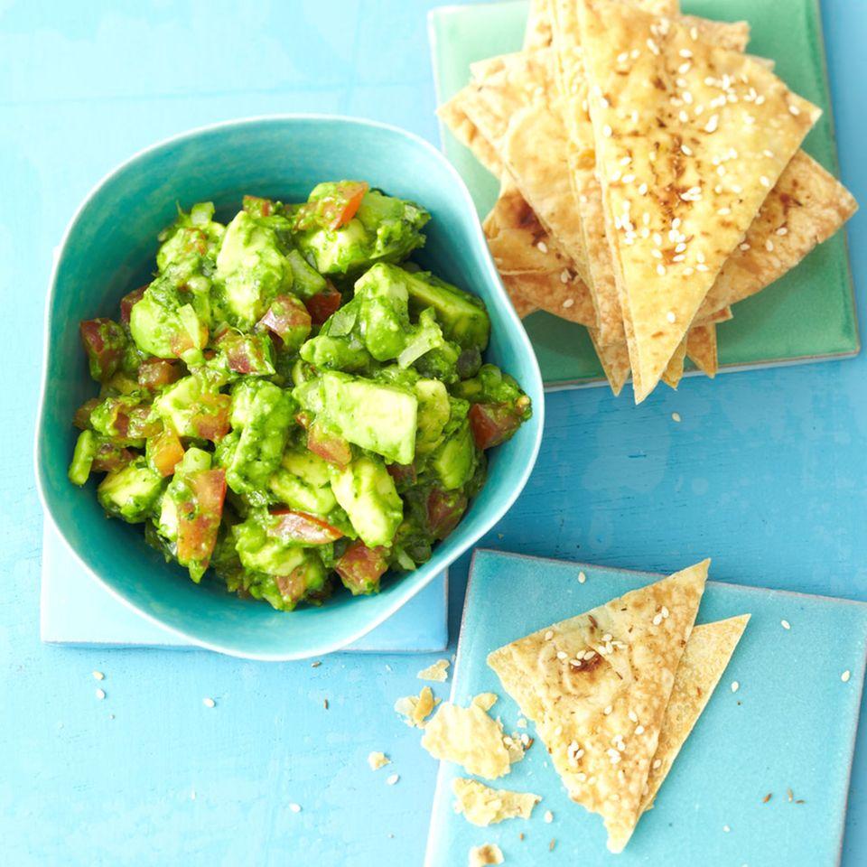 Guacamole mit Tortillachips