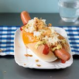 Hot Dogs mit Sauerkraut