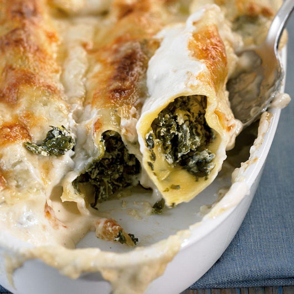 Ricotta-Spinat-Cannelloni