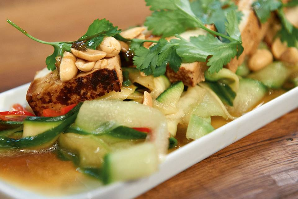 Gurken-Zucchini-Salat Rezept