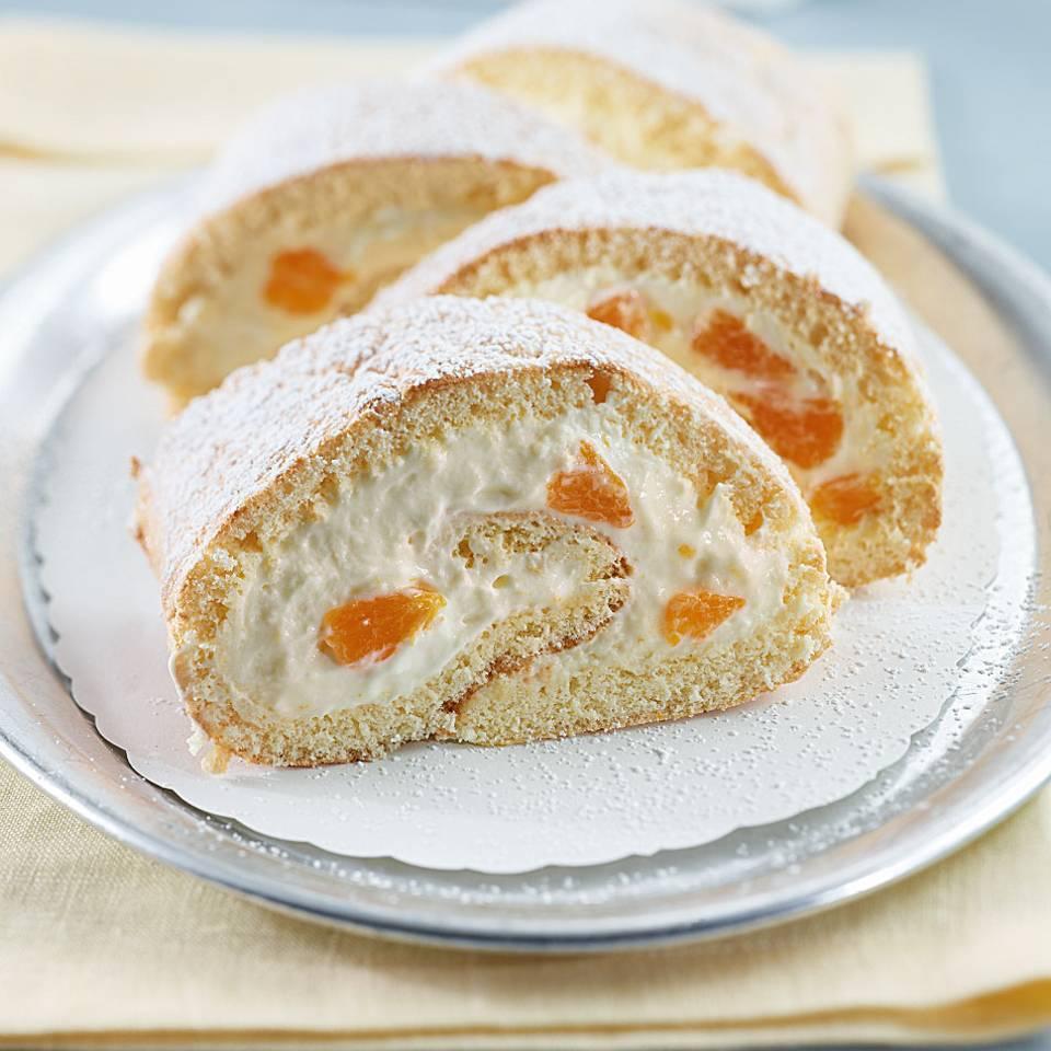 Mandarinen-Sahne-Rolle Rezept