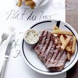 Steak frites mit Sardellenbutter