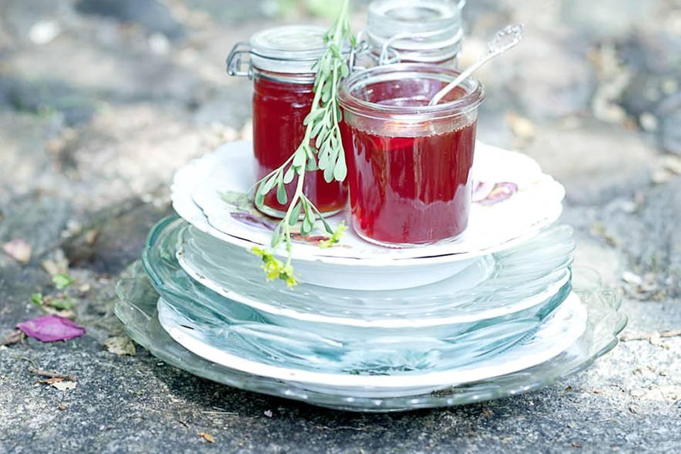 Erdbeer-Weinrauten-Gelee Rezept