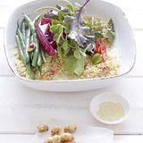 Couscous-Salat mit Salzmandeln