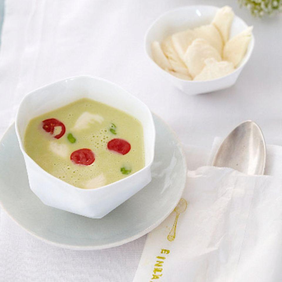 Grüne Bohnencremesuppe