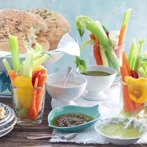 Blanchiertes Gemüse
