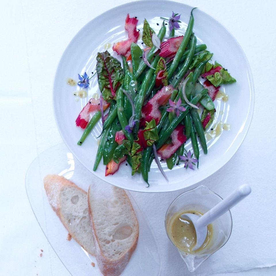 Mangold-Bohnen-Salat