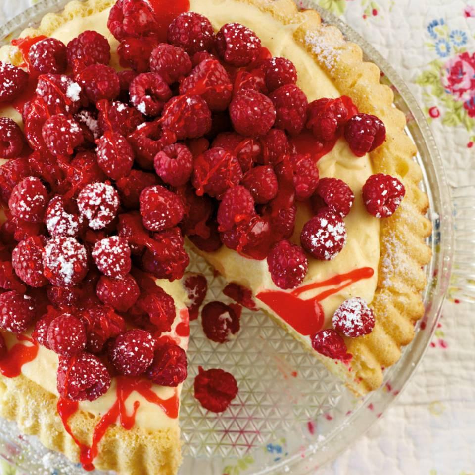 Himbeer-Vanille-Obstkuchen Rezept
