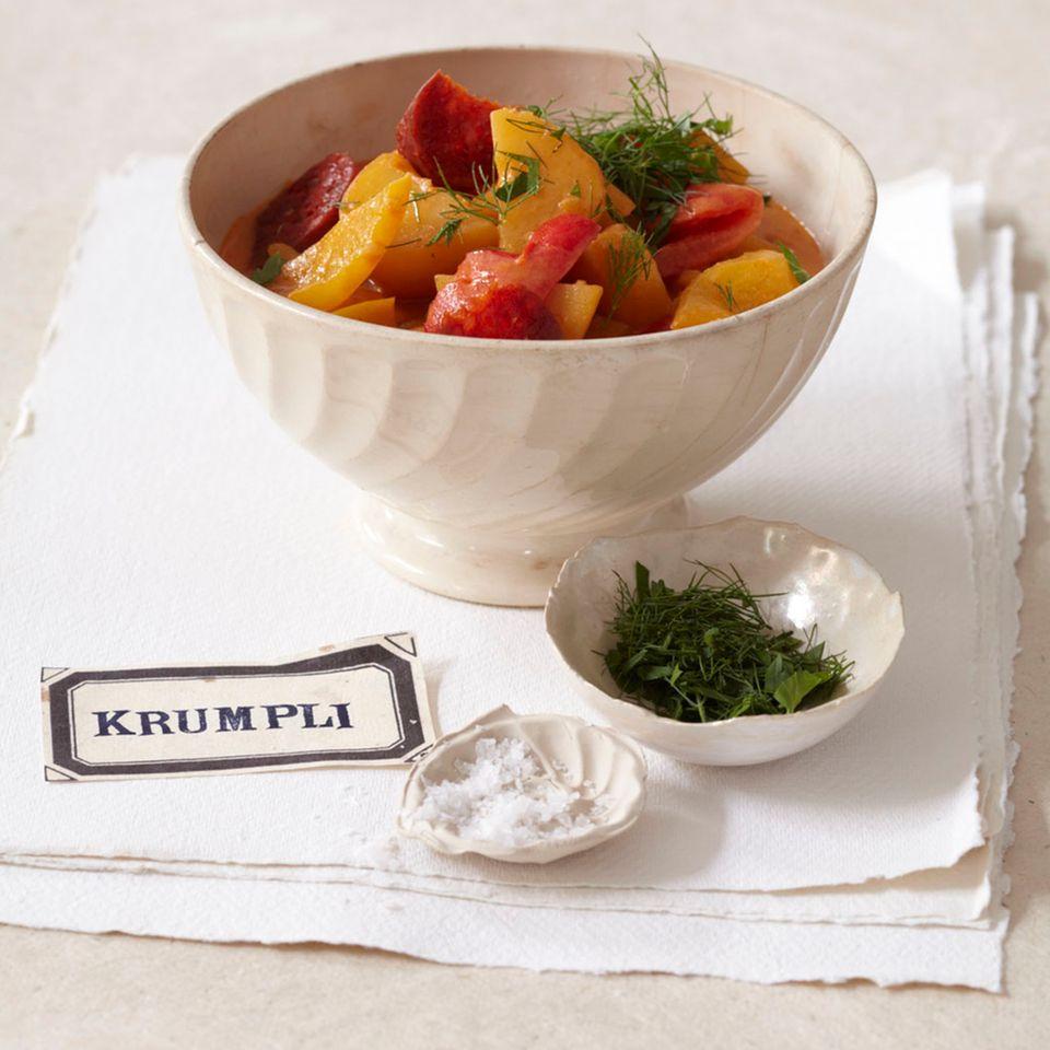 Kartoffelgulasch mit Paprika