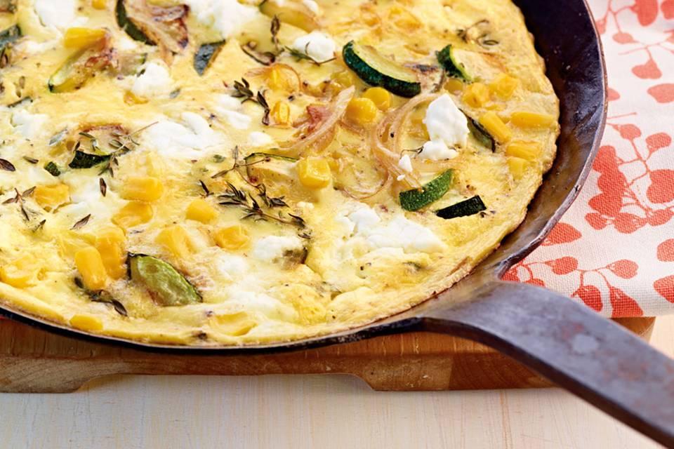 Mais-Zucchini-Frittata Rezept