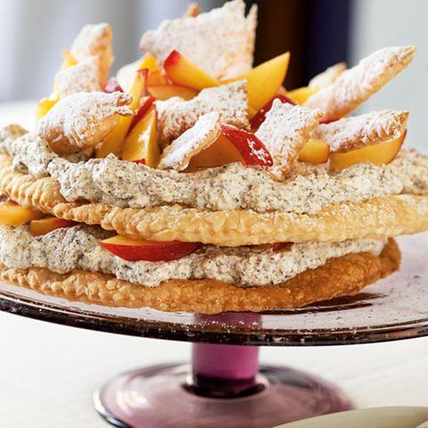 Blätterteig-Nektarinen-Torte