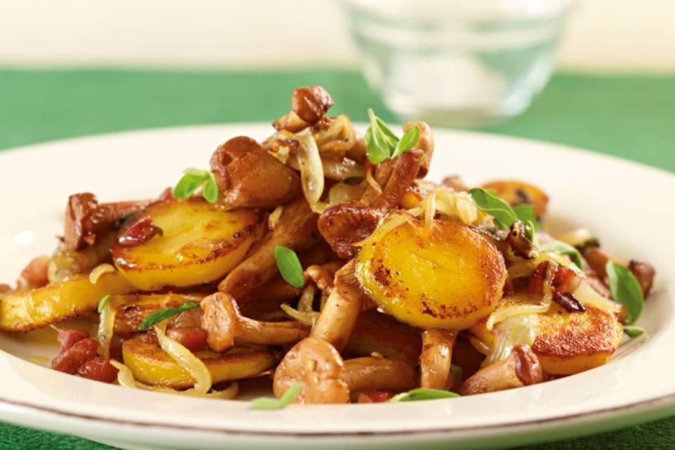 Kartoffel-Pfifferling-Pfanne Rezept