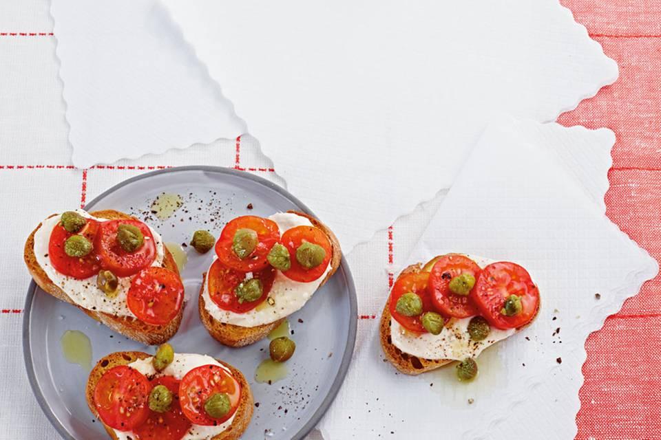 Crostini mit Thunfischcreme-Tomate Rezept
