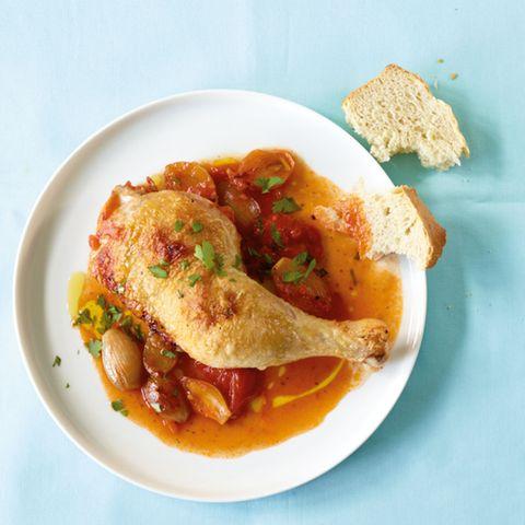 Tomaten-Vermouth-Hähnchen