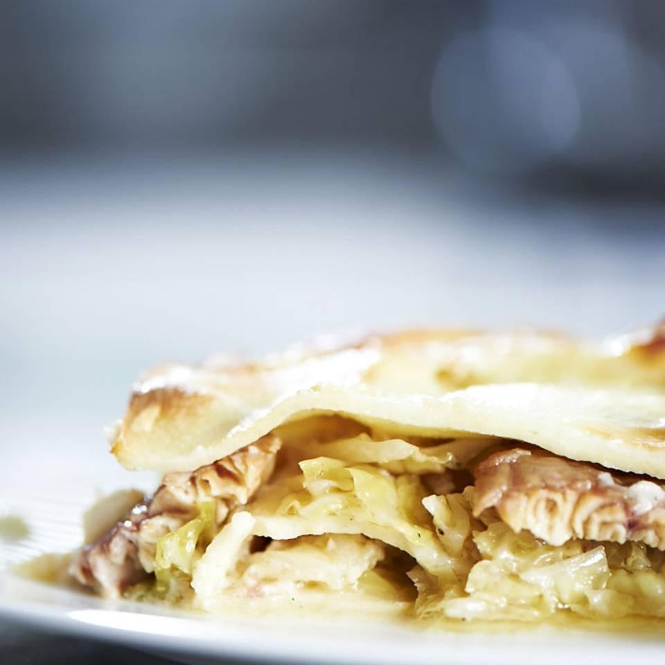 Lasagne mit Wirsing und Räucherfisch Rezept