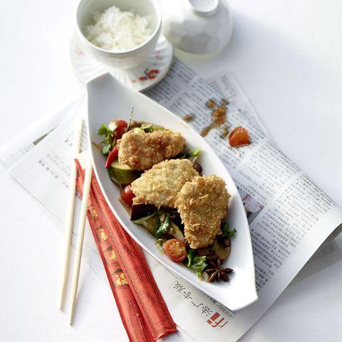 Knusperschnitzel mit Asia-Ratatouille