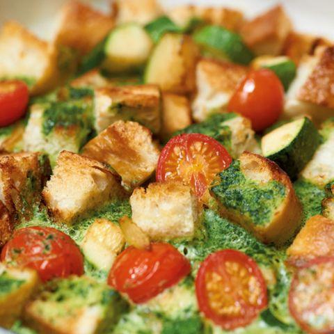 Brot-Spinat-Tortilla