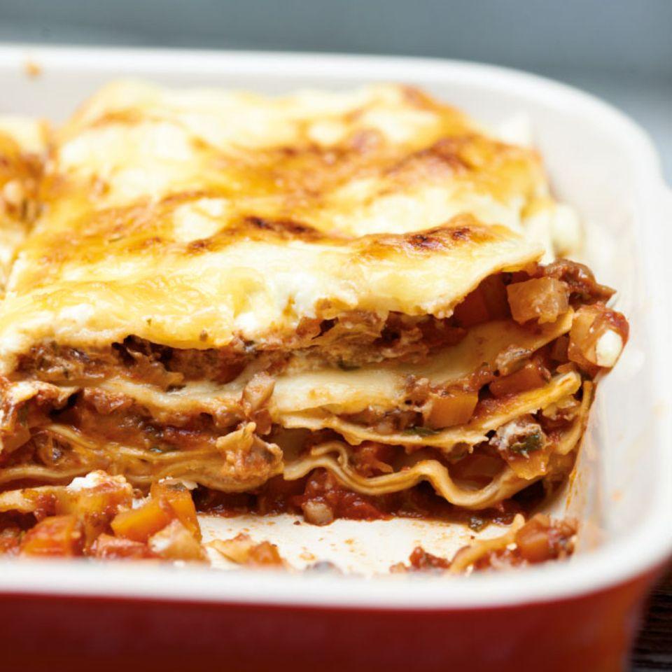 Pilz-Lasagne