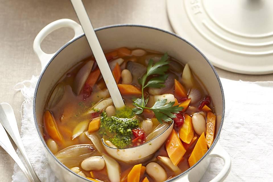 Gemüsetopf mit Pesto Rezept
