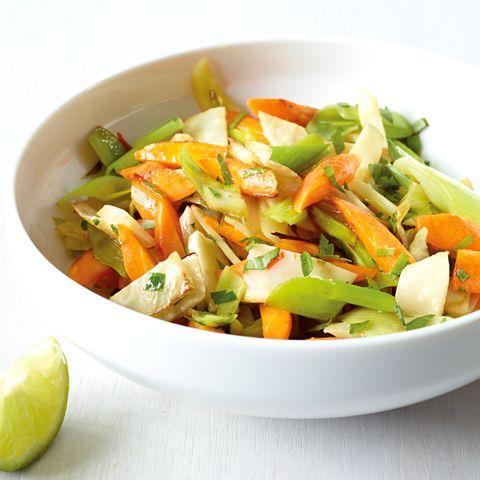 Suppengrün aus der Pfanne