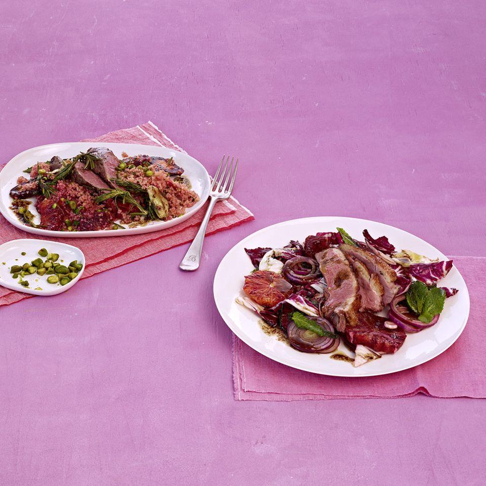 Salat mit Entenbrust
