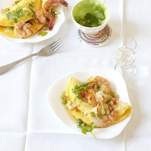 Chili-Garnelen-Omelette