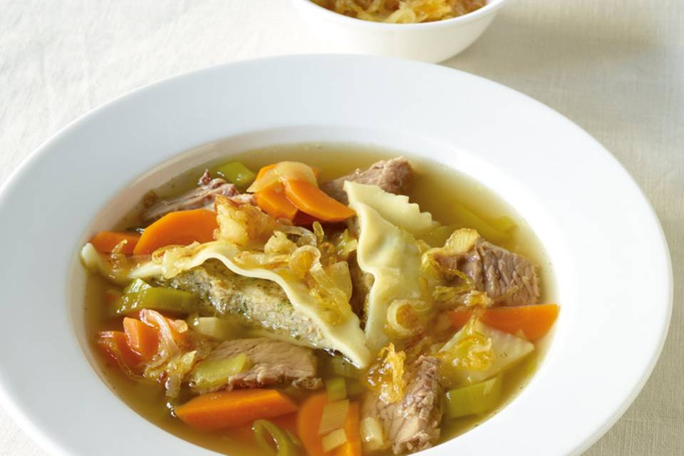 Rinder-Maultaschen-Suppe Rezept