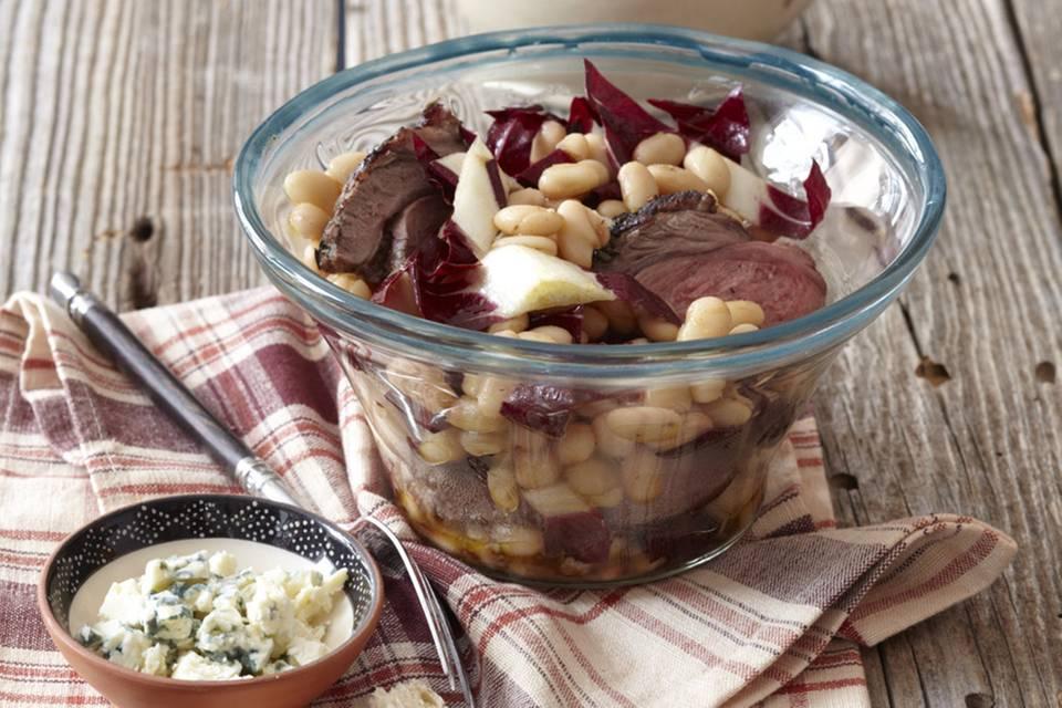 Warmer Bohnensalat mit Lamm Rezept